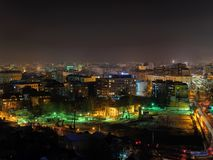 Aerial city nightview royalty free stock photo