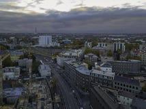 Aerial of city Tallinn, Estonia stock photography