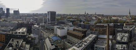 Aerial of city Tallinn, Estonia royalty free stock photography