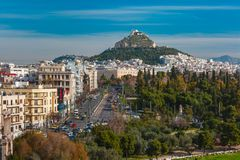 Aerial city view in Athens, Greece Royalty Free Stock Images