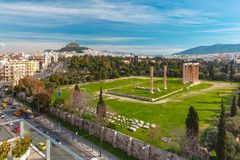 Aerial city view in Athens, Greece Stock Image
