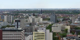 Aerial city  view of Berlin Stock Image
