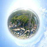 Aerial city view - little planet mode Stock Photos