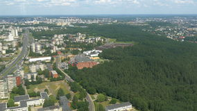 The aerial city view from the TV tower in Vilnius GH4 4K UHD stock footage