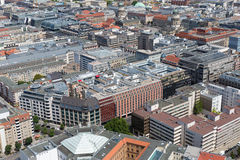 Aerial cityscape of Berlin Royalty Free Stock Photography