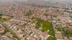 Surabaya capital city east java, indonesia. Aerial cityscape densely built asian city. modern city Surabaya with buildings and houses. Surabaya capital city east royalty free stock images