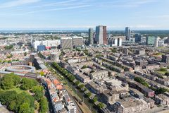 Aerial cityscape of The Hague, city of the Netherlands Royalty Free Stock Photos