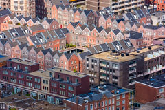 Aerial cityscape of The Hague Den Haag, Netherlands. With colorful roofs Stock Photos