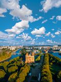 Aerial cityscape of Kant Island in Kaliningrad, Russia Royalty Free Stock Photos