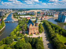 Aerial cityscape of Kant Island in Kaliningrad, Russia Stock Photo