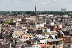Aerial cityscape of medieval city Utrecht, the Netherlands Stock Image