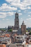 Aerial cityscape of medieval city Utrecht, the Netherlands Stock Photo