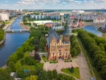 Free Aerial Cityscape Of Kant Island In Kaliningrad, Russia Stock Photos - 96727563