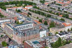 Aerial cityscape ofTthe Hague, city of the Netherlands Stock Images