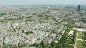 Aerial cityscape of Paris, France stock video footage