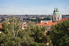 Aerial Cityscape of Praha Royalty Free Stock Photo