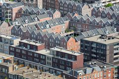Aerial cityscape residential area of The Hague, The Netherlands Royalty Free Stock Photos