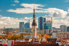 Aerial cityscape of Tallinn, Estonia Royalty Free Stock Photos