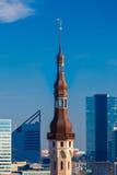 Aerial cityscape of Tallinn, Estonia Royalty Free Stock Photography
