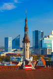 Aerial cityscape of Tallinn, Estonia Royalty Free Stock Images
