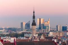 Aerial cityscape of Tallinn, Estonia Royalty Free Stock Image