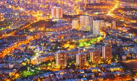 Aerial cityscape Tehran twilight. Iran. Aerial cityscape of Tehran at twilight. Iran royalty free stock images