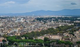 Aerial cityscape view of Rome, Italy stock photo