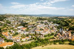 Saint Flour town in France royalty free stock photo