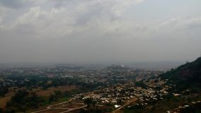 Aerial cityscape view to Yaounde, the capital of Cameroon. Aerial cityscape view to Yaounde, capital of Cameroon Royalty Free Stock Images