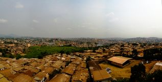 Aerial cityscape view to Yaounde, capital of Cameroon Royalty Free Stock Photos