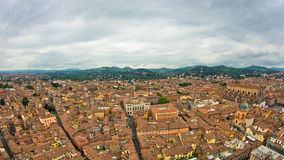 Aerial cityscape view from two towers, Bologna, Italy Stock Images