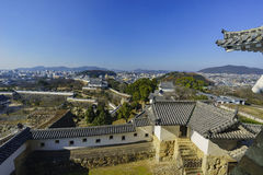 Aerial cityscape from the white Heron castle - Himeji Stock Photography