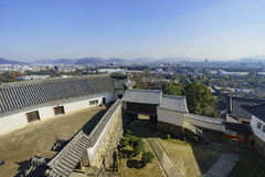 Aerial cityscape from the white Heron castle - Himeji Stock Photos