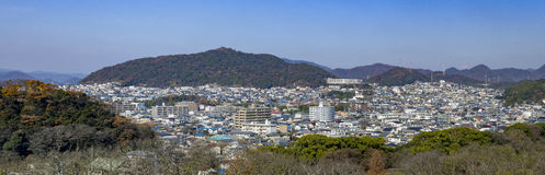 Aerial cityscape from the white Heron castle - Himeji Royalty Free Stock Images