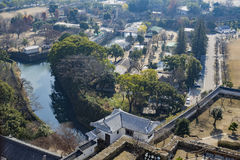 Aerial cityscape from the white Heron castle - Himeji Stock Image