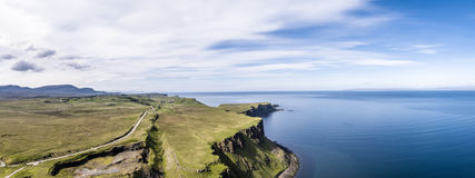 Aerial of the cliffs at Lealt Falls - Isle of Skye - Scotland. United Kingdom Royalty Free Stock Images