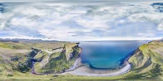 Aerial of the cliffs at Lealt Falls - Isle of Skye - Scotland. United Kingdom Stock Image