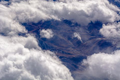 Aerial cloud formations Royalty Free Stock Photography