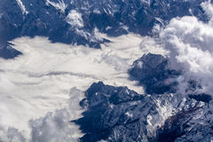 Aerial cloud formations Stock Images