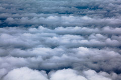 Aerial clouds. Landscape view of aerial view of parrallel cloud banks Royalty Free Stock Images