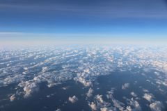 Aerial clouds view Stock Photos