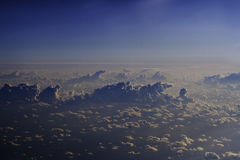 Aerial cloudscape Royalty Free Stock Photography