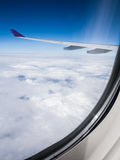 Aerial cloudscape from airplane window Royalty Free Stock Images