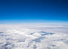 Aerial cloudscape in stratosphere Royalty Free Stock Image