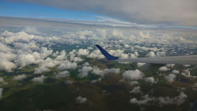 Aerial cloudscape stock footage