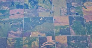 Aerial Cloudscape view over midwest states on flight over Colorado, Kansas, Missouri, Illinois, Indiana, Ohio and West Virginia du. Ring autumn. Grand sweeping royalty free stock images