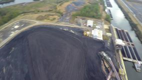 Aerial coal plant stock video footage