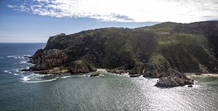 Aerial of the coast of Knysna South Africa royalty free stock photography