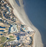 Aerial coastal development Stock Image