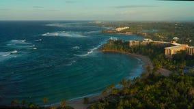 Aerial coastal view of cosatal Puerto Rico.